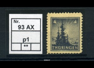 SBZ 1945 Nr 93AXp1 postfrisch (97799)