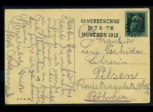 BAYERN 1912 Brief/Karte (102582)