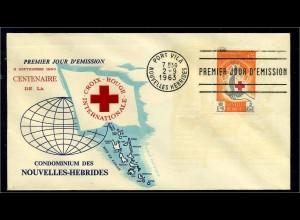 NEUE HEBRIDEN 1963 Brief gestempelt (102829)