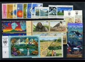 UNO GENF Lot auf Steckkarte postfrisch (103310)