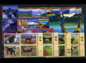 UNO GENF Lot auf Steckkarte postfrisch (103313)