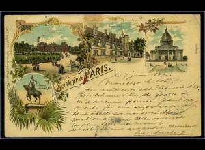 AK Souvenir de PARIS siehe Beschreibung (103604)