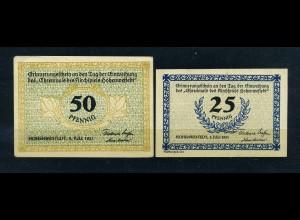 2 Notgeldscheine 1921 HOHENWESTSTEDT siehe Beschreibung (103723)