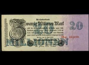 20Mio. Mark 1923 Reichsbanknote siehe Beschreibung (103729)
