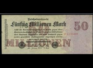 50Mio. Mark 1923 Reichsbanknote siehe Beschreibung (103731)