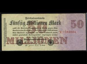 50Mio. Mark 1923 Reichsbanknote siehe Beschreibung (103732)