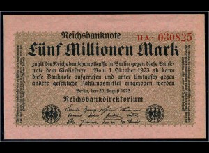 5Mio. Mark 1923 Reichsbanknote siehe Beschreibung (103742)