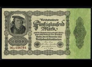 50Tsd. Mark 1922 Reichsbanknote siehe Beschreibung (103746)