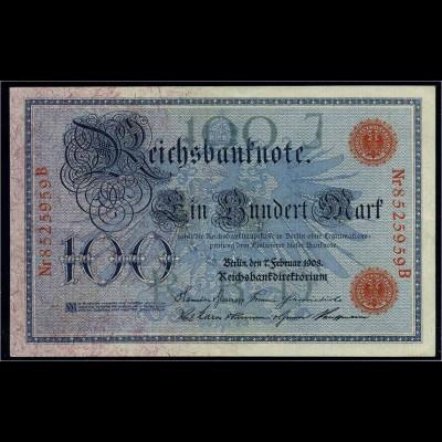 100Mark 1908 Reichsbanknote siehe Beschreibung (103804)