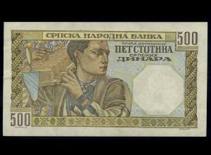 500 Dinara 1941 Banknote SERBIEN siehe Beschreibung (103849)