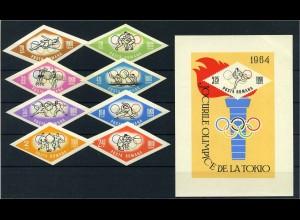 RUMAENIEN OLYMPIADE 1964 Lot postfrisch (105200)