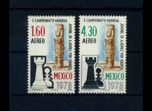 MEXIKO 1978 Satz Schach postfrisch (106150)