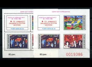 MAZEDONIEN 1992 ZZM Bl.2A+B postfrisch (106200)