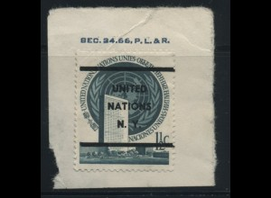 UNO NEW YORK 1951 Nr 2xV gestempelt (106850)