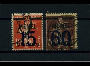 MEMEL 1921 Nr 34+35 gestempelt (109437)