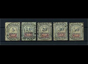 MV IN RUMAENIEN 1917 Nr P1-5 gestempelt (109767)