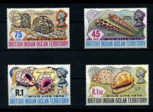 BRIT.IND.TERRITORY 1974 Nr 59-62 postfrisch (110253)