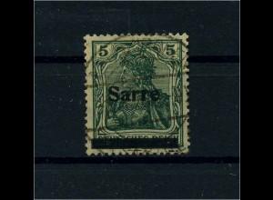 SAARGEBIET 1920 Nr 4bII gestempelt (110502)