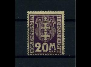 DANZIG 1923 Nr P22 gestempelt (110552)