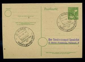 KONTROLLRAT 1947 Blankobeleg mit SST siehe Beschreibung (110913)