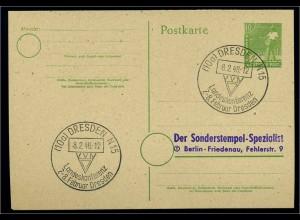 KONTROLLRAT 1947 Blankobeleg mit SST siehe Beschreibung (110915)