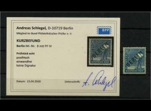 BERLIN 1949 Nr 8 IV gestempelt (111799)