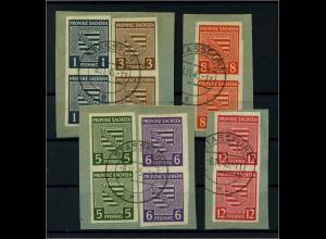 SBZ 1945 Nr 66-71X gestempelt (111875)