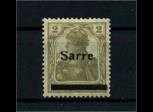 SAARGEBIET 1920 Nr 1 postfrisch (113330)