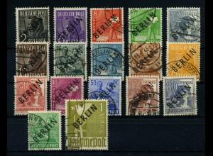 BERLIN 1948 Nr 1-17 gestempelt (113363)