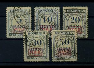MV IN RUMAENIEN 1917 Nr P1-5 gestempelt (113730)