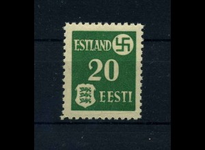 ESTLAND 1941 Nr 2y postfrisch (113738)