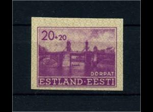 ESTLAND 1941 Nr 5U siehe Beschreibung (113742)