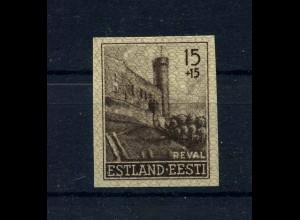 ESTLAND 1941 Nr 4U siehe Beschreibung (113743)