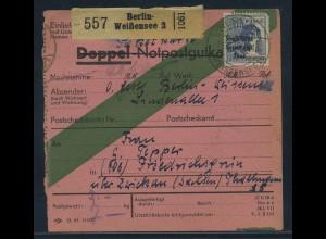 SBZ PAKETKARTE 1948 Nr 196 siehe Beschreibung (115471)