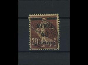 MEMEL 1920 Nr 22 gestempelt (116309)