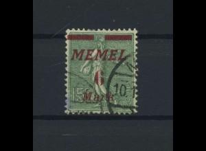 MEMEL 1922 Nr 111 gestempelt (116355)
