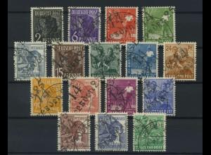 SBZ 1948 Nr 166-181 II gestempelt (116912)