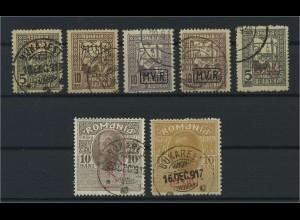 MV IN RUMAENIEN 1917 Nr ZZ 1-7 gestempelt (117728)