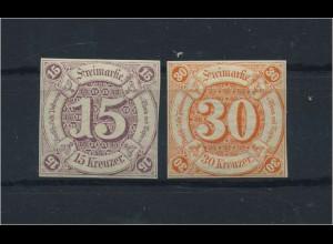 THURN+TAXIS 1859 Nr 24+25 postfrisch (118231)
