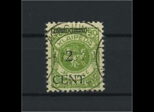MEMEL 1923 Nr 177 gestempelt (118499)