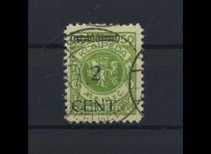 MEMEL 1923 Nr 177 gestempelt (118515)