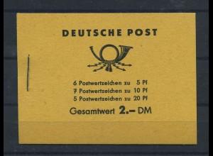 DDR 1957 MH 3b1 postfrisch (118880)