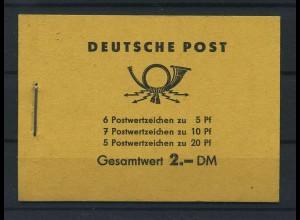 DDR 1957 MH 3b1 postfrisch (119221)