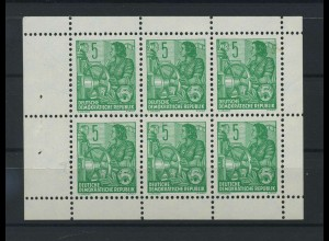 DDR 1960 MHb 7A postfrisch (119252)