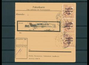 Paketkarte 1948 DEDERSTEDT siehe Beschreibung (200849)