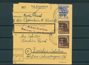 Paketkarte 1948 NEU PETERSHAIN siehe Beschreibung (200856)