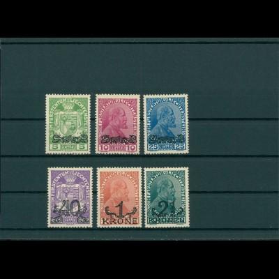 LIECHTENSTEIN 1920 Nr 11-16 Haftstelle/Falz (201587)