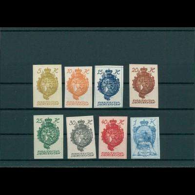 LIECHTENSTEIN 1920 Nr 17-24 postfrisch (201589)