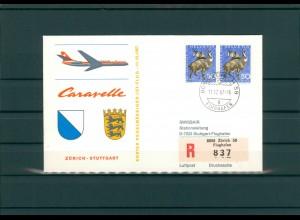SCHWEIZ 1967 Erstflugbeleg siehe Beschreibung (202330)
