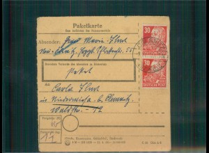 Paketkarte 1949 OELSNITZ siehe Beschreibung (202541)
